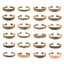 Magnetic Copper Cuff Bangle Bracelets Arthritis Rheumatic Pain Therapy Lot Sales