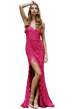 Women Sexy Lacy Lace Bridal Wedding Evening Cocktail Party Gown Long Maxi Dress