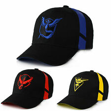 Men Boy Pokemon Team Valor Mystic Instinct Sun Baseball Cap Trainer Snapback Hat