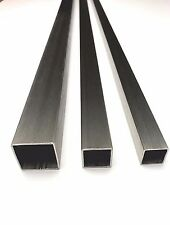 Stainless Steel 304 Square Tube Metal Bar Box Section 3 Diameter Options