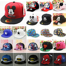 Toddler Boys Girls Superhero Hip Hop Baseball Cap Mickey Snapback Bowknot Hats