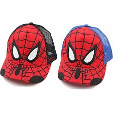 Spiderman Snapback Baseball Caps Kids Boys Girls Adjustable Hip Hop Hat Sun Hats