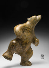 13È Dancing Bear Tuk Nuna Inuit sculpture eskimo art carving soapstone new