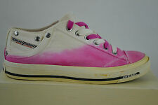 Diesel Exposure IV Low Pink white Trainers Shoe shoes Size 37