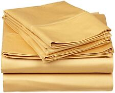 Great Sale !! New Bed Solid { Gold } 1000TC Bedding Item & Sizes Egyptian Cotton