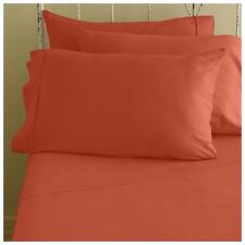 1000TC Brand New { Orange } Solid 100% Egypt Cotton Latest Bedding Items & Sizes