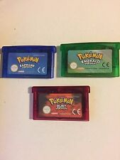 Pokemon Emerald or Ruby or Sapphire Gameboy Advance GBA SP Cartridge EUR UKSTOCK