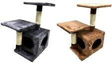 Cat Scratcher Kitten Tree Gym House Double Level Scratching Post Furniture Base