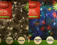 5Meters Solar Rope LED Light White/Multi Colour Xmas Party Garden Outdoor