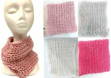 New Kids Knitted Neck Warmer Winter Warm Neck Snood Scarf Shawl Pink/White/Grey