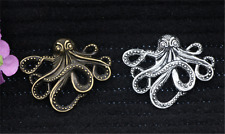 2/8/40pcs Tibetan Silver Lovely Octopus Jewelry Finding Charms Pendant 35x43mm
