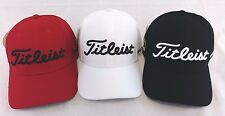 Titleist Dobby Tech Men's Golf Cap Hat NEW 2017 Fitted Red White Black
