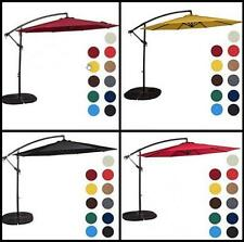 10 Feet Outdoor Aluminum Offset Patio Umbrella with Crank Yard Beach Sun shade