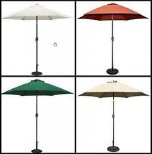 9 ft Aluminum Patio Umbrella Market Yard Outdoor Sunshade with Crank Tilt Bronze