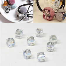 4mm/6mm DIY Square Crystal Spacer Beads 10Pcs Faceted Loose Glass Cube