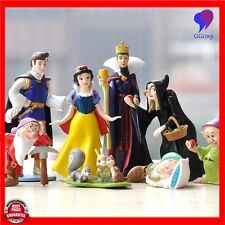 8pcs 4-15cm Seven Dwarfs and Princess Snow White PVC Action Figure Cake Doll