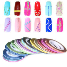 6Pcs Mixed Rolls Striping Tape Line DIY Nail Art Tips Decoration Sticker Solid