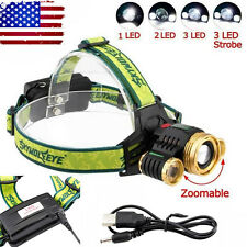 30000LM CREE XM-L T6 LED 3 Mode 2*18650 HeadLamp Torch Headlight Rechargeable&
