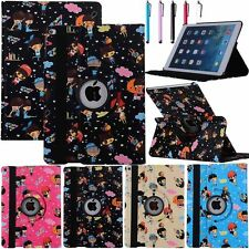 360 Rotating Zoey Cartoon Smart Leather Case Cover For iPad 2 3 4 iPad Mini Air
