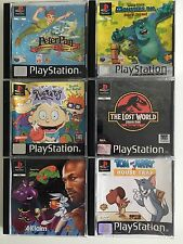 Sony PS1 x 6 TOP KIDS Games : RUGRATS Disney Peter Pan Space Jam Monsters Inc BH