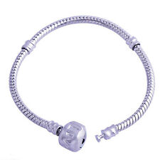 Silver Plated Snake chain european Charms Lot Beads Bracelet Wholesale