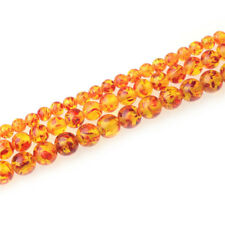 Wholesale Amber Gemstone Round Spacer Loose Beads 6mm 8mm 10mm Stone for Jewelry