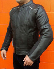 New Men Viper Motorcycle CE Armoured Leather Jacket Removable Liner SM - 4XL