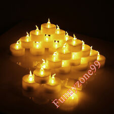 12/24pcs Battery Powered LED Flameless Candle Tealight Tea Light Lamp Wedding AU