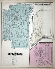 1877 Map of Knox Township Clarion County Pennsylvania Oil Wells