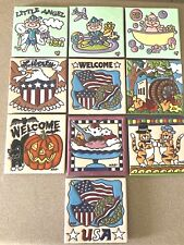 Earthtones - Hand Glazed Art Tile / TRIVET Tucson USA - YOU CHOOSE DESIGN