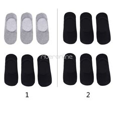 6 Pairs Men Non Slip Cotton Low Cut Boat No Show Socks Casual Silicone Liner New