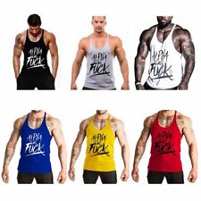 Gym Men Muscle Sleeveless Shirt Tank Top Bodybuilding Sport Fit Singlet Vest