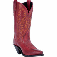 Laredo Womens Red All Leather Madison 11in Snip Toe Cowboy Boots