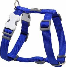 Red Dingo Plain BLUE Harness for Dog or Puppy | Sizes XS - LG | FREE P&P