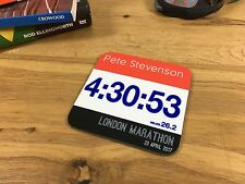 Finishers Gift - London Marathon 2017 Personalised Print Coaster - Runner Run