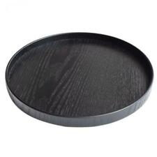 Japanese Style Round Wooden Serving Tray Plate Tea Food Platter Home Decor