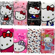 for ipod touch 4TH 4 GEN itouch back case hello kitty kitten red pink white //