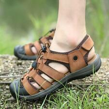 Mens Outdoor Sport Sandals hiking climbing Closed Toe Fisherman Casual Shoes Sz