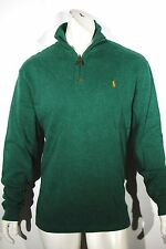 Polo Ralph Lauren pullover french rib mockneck half zip sweater NEW color green