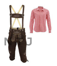 Authentic Bavarian Lederhosen/Breeches Trachten German Outfit for Oktoberfest