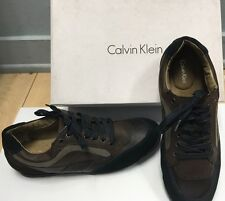 CALVIN KLEIN ALFONSO LEATHER/SUEDE BLACK SHOES SIZE 10.5 M