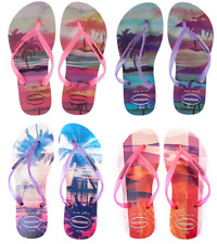 Havaianas Slim Paisage Womens Flip Flops Beach Sandals Shoes New for Summer
