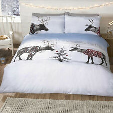 Christmas Reindeer Jumpers Duvet Cover and Pillow Case Set