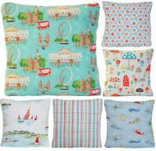 Cath Kidston Fabric Cushion Cover Floral Birds London Townhouses Planes Boats