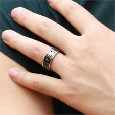 New Black Color Cross Bible Titanium Stainless Jewelry Steel Ring For Men