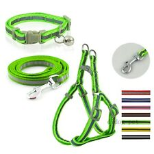Step In Nylon Pet Dog Collar&Harness&Leash Set for Puppy Small Breeds Reflective