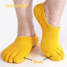 6 Pairs Men Cotton Invisible five finger toe Socks Ankle Solid No Show Low Cut