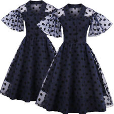 AU 1950s Rockabilly Vintage Polka Dot Swing Pin Up Evening Party Prom Dress