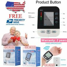 LCD Arm Electronic Blood Pressure Monitor Sphygmomanometer Heart Rate Meter ZE