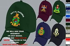 UNITS A TO D EMBROIDERED REGIMENTAL ARMY RAF ROYAL NAVY AIR FORCE BASEBALL CAP